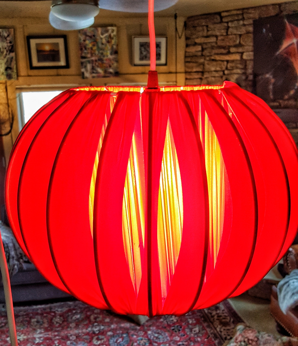 Mod red hanging light--JScottMcElroy.com