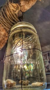 Driftwood and Ball jar light, detail (custom)--JScottMcElroy.com