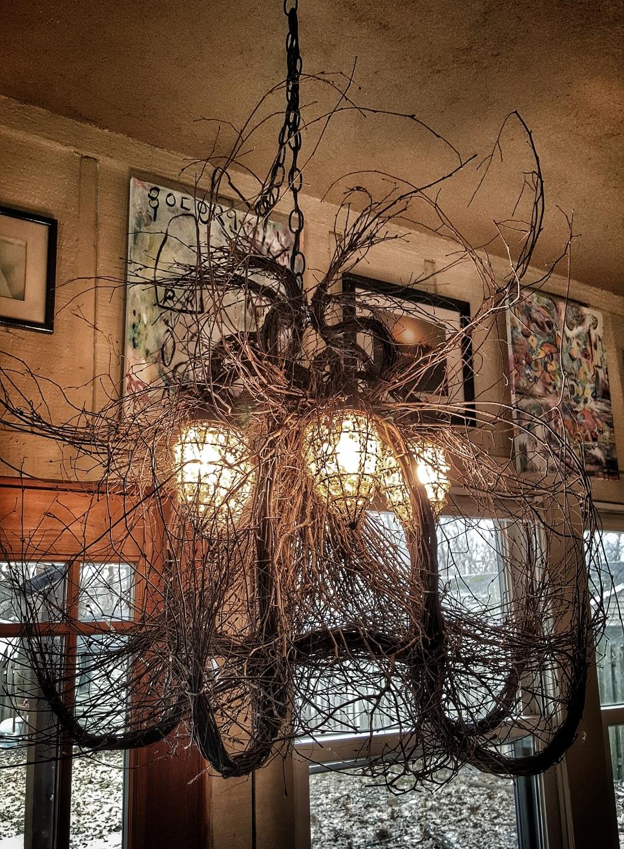Crazy twig chandelier light--jscottmcelroy.com