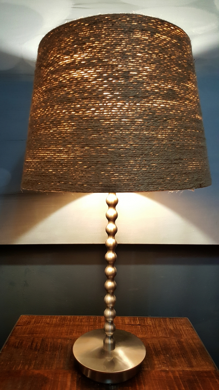 Curvy lampstand and jute shade--jscottmcelroy.com