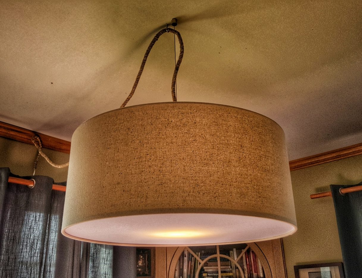 West Elm Drum light with custom jute swag--JScottMcElroy.com