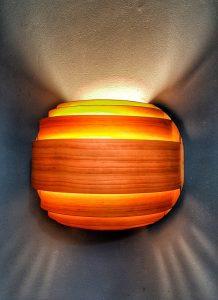 Semi-circular wood sconce--JScottMcElroy.com