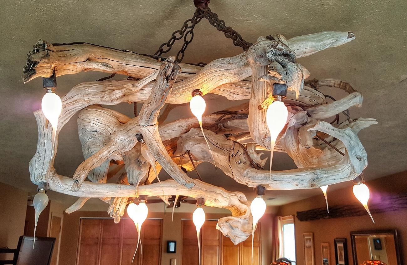 Luminous driftwood chandelier--JScottMcElroy.com
